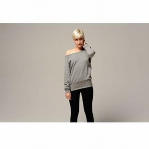 Bella Triblend Slouchy Wideneck Sweatshirt