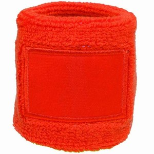 Towel Wristband 6cm with Label oranje
