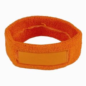 Towel Headband 18 cm with Label oranje