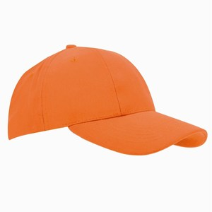 Turned Brushed Cap oranje