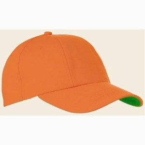 Turned cotton cap oranje