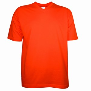 V-Neck T-Shirt Orange