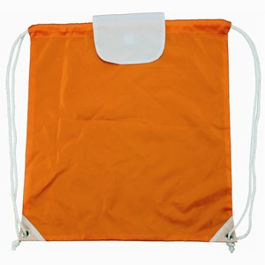 Promobag with Flap 42 x 46 cm oranje-wit