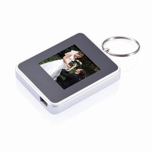 1,5 inch digitale vierkante fotolijst met sleutelhanger grijs