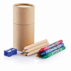 14 delige potlood set houtkleurig