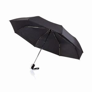 21,5 inch 2 in 1 automatische paraplu zwart