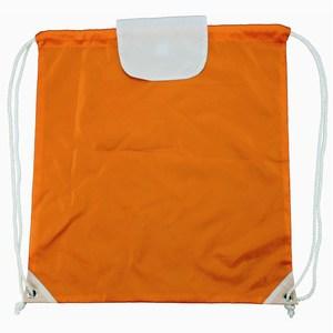 Promobag with Flap 42 x 46 cm oranje-wit