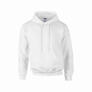 Gildan 12500 hooded sport sweater white
