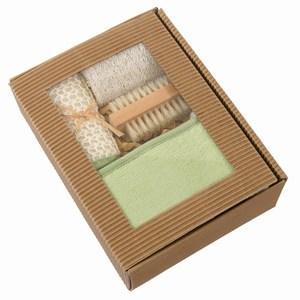 4 delig massage set Natural, beige, groen