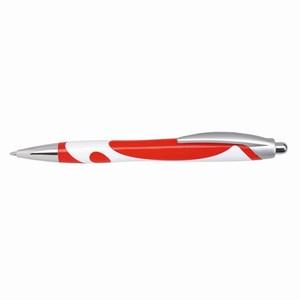 Zwartschrijvende balpen Modern, wit, rood