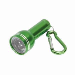Aluminium mini-zaklamp Cara. Groen.