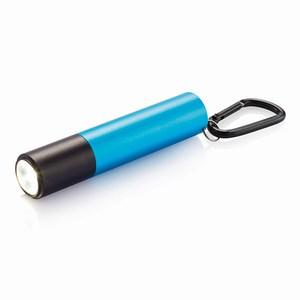 2200 mAh powerbank en zaklamp, blauw
