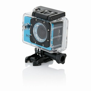 Action camera inclusief 11 accessoires, blauw