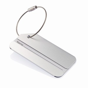 Aluminium adreslabel zilver