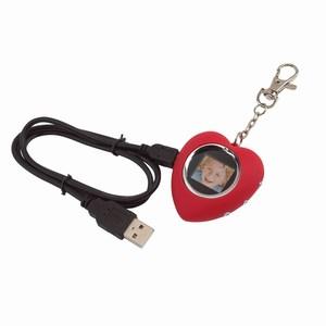 Digitaal fotolijstje (2 x 2 cm) Love picture, rood