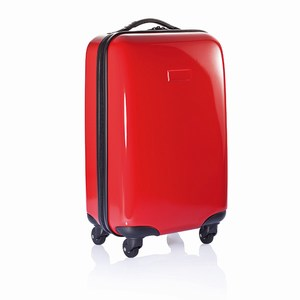 4 wiel trolley The Spinner inch rood