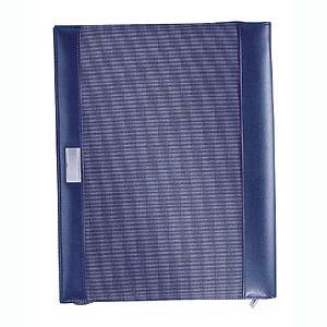 A4 schrijfmap blue tone met rits 650 gram