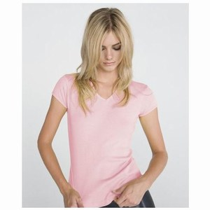 Bella Baby Rib SS V-neck T-shirt