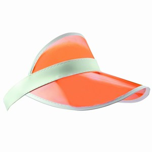 Sunvisor with PVC Peak wit-oranje