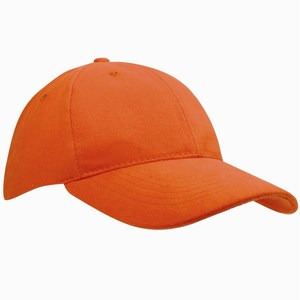 Heavy Brushed Cap oranje
