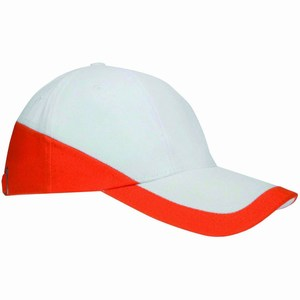 Duo Colour Cap wit-oranje