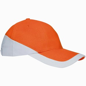 Duo Colour Cap oranje-wit