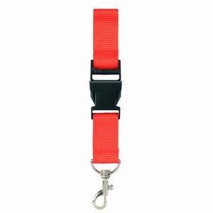 Lanyard Oranje 2,5 cm met veiligheidssluiting