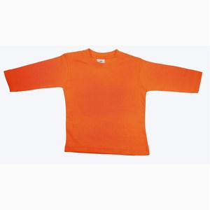 T-Shirt Roundneck Plain Orange Baby