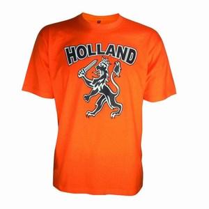 T-Shirt Roundneck with Imprint Orange