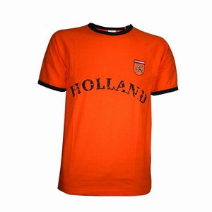 Retro-Shirt with Imprint Orange