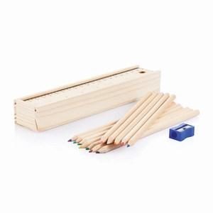 15 delige potloodset houtkleurig