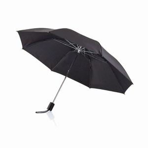 20 inch opvouwbare paraplu zwart