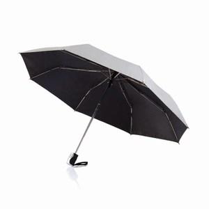 21,5 inch 2 in 1 automatische paraplu zilver