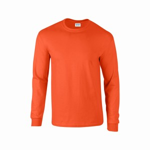 Gildan 2400 T-shirt ultra cotton lange mouw orange