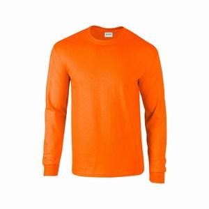 Gildan 2400 T-shirt ultra cotton lange mouw safety orange