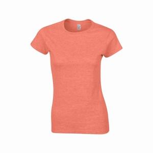 Gildan 64000L dames T-shirt softstyle heather orange