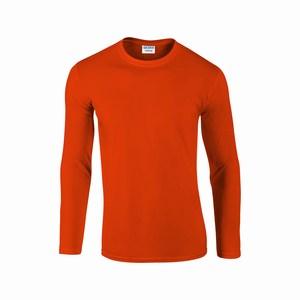 Gildan 64400 T-shirt lange mouw softstyle orange