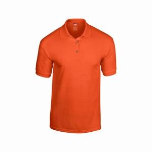 Gildan 8800 sport poloshirt van T-shirt stof orange