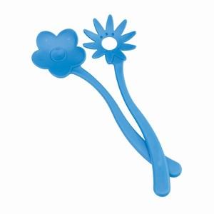 2-delig saladebestek Flower. Blauw.