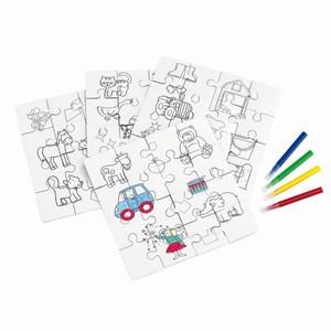 4 verschillende zelf in te kleuren puzzels Paint your picture, diverse kleuren
