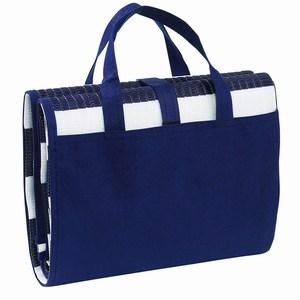 Uitvouwbare strandtas, eenvoudig om te vormen tot strandmat met hoofdkussen, wit , blauw