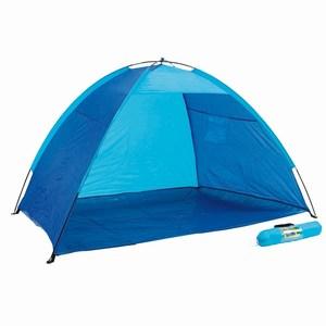 Strandtent met UV protectie laag in handige opbergtas, blauw