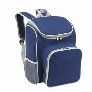 2 persoons 600D polyester picknick rugzak Outside, blauw, grijs