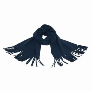 Sjaal van fleece materiaal, marine blauw