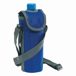 420 D nylon fleshouder (500 ml) met verstelbare schouderband, blauw