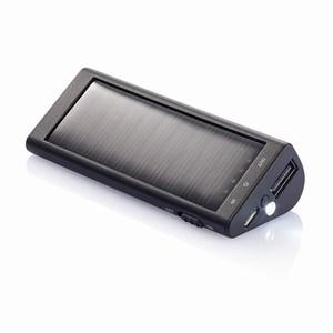 2.200 mAh solar powerbank, zwart