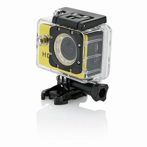 Action camera inclusief 11 accessoires, geel